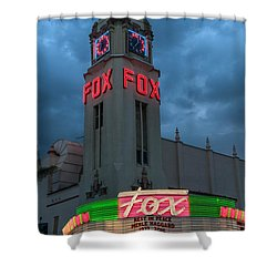 Majestic Fox Theater Neon Tribute Merle Haggard Shower Curtain