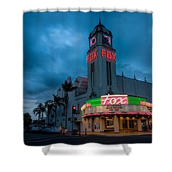 Majestic Fox Theater Sunset Stormy Night Shower Curtain