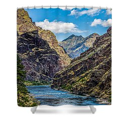 Majestic Hells Canyon Idaho Landscape By Kaylyn Franks Shower Curtain