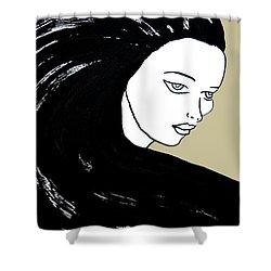 Majestic Lady J0715e Lemon Grass Green Pastel Painting 12-0626 Dcd494 C8c199 Shower Curtain