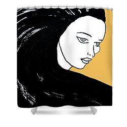Majestic Lady Mimosa Yellow Pastel Painting 14-0848 F0b59 Shower Curtain