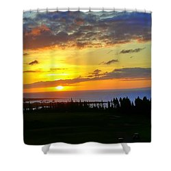 Majestic Maui Sunset Shower Curtain