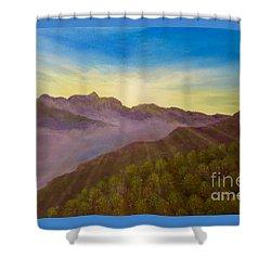 Majestic Morning Sunrise Shower Curtain