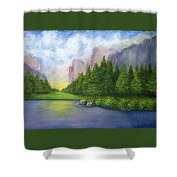 Majestic Mountains Shower Curtain