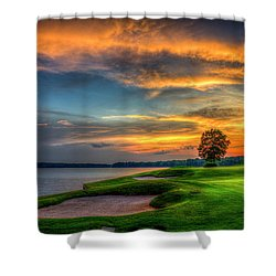 Shower Curtain featuring the photograph Majestic Number 4 The Landing Reynolds Plantation Art by Reid Callaway