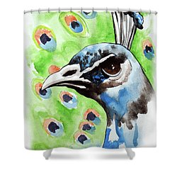 Majestic - Peacock Bird Art Shower Curtain