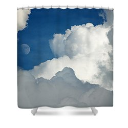 Majestic Storm Clouds With Moon Shower Curtain