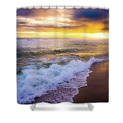Shower Curtain featuring the photograph Majestic Sunset In Paradise by Shelby Young
