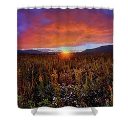 Majestic Sunset Over Cades Cove In Smoky Mountains National Park Shower Curtain