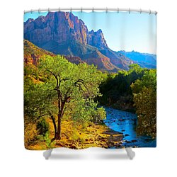 Majestic Watchman Shower Curtain