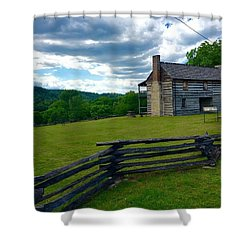 Majestic Wolf House Stands  Shower Curtain