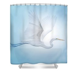 Majesty Of The Skies Shower Curtain by Mark Andrew Thomas