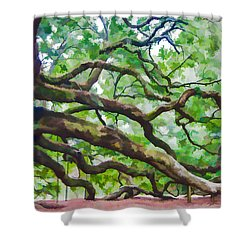 Majesty - The Angel Oak Shower Curtain