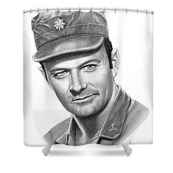 Major Frank Burns Shower Curtain by Murphy Elliott
