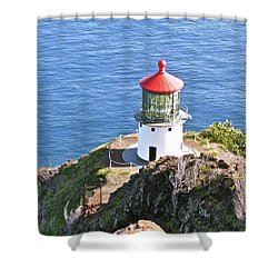 Makapuu Lighthouse 1065 Shower Curtain by Michael Peychich