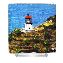 Makapuu Lighthouse #78, Shower Curtain by Donald k Hall