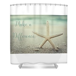 Make A Difference Starfish Vintage Set 2 Shower Curtain