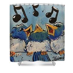 Make A Joyful Noise Shower Curtain