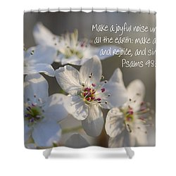 Make A Joyful Noise Unto The Lord Shower Curtain