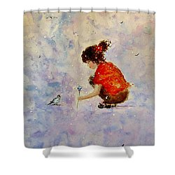 Make A Wish 20 Shower Curtain by Cristina Mihailescu