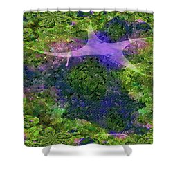 Shower Curtain featuring the digital art Make A Wish by Claire Bull