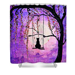 Shower Curtain featuring the mixed media Make A Wish by Natalie Briney