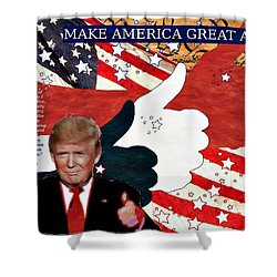 Make America Great Again - President Donald Trump Shower Curtain