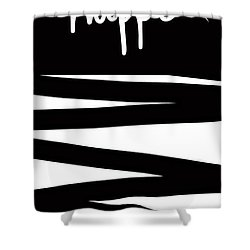 Make It Happen- Black And White Art By Linda Woods Shower Curtain