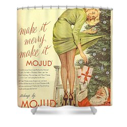 Shower Curtain featuring the digital art Make It Merry...make It Mojud by Reinvintaged