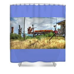 Make Love Not War I Shower Curtain