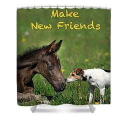 Make New Friends Shower Curtain