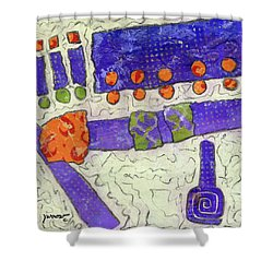 Make New Friends Shower Curtain by Sue Furrow