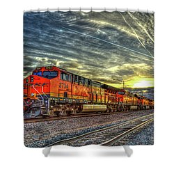 Make Way Resting B N S F Train Gallup New Mexico Art Shower Curtain