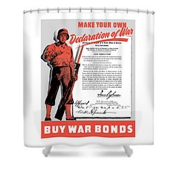 Shower Curtain featuring the painting Make Your Own Declaration Of War by War Is Hell Store