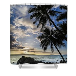 Makena Maui Hawaii Sunset Shower Curtain