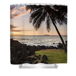 Makena Sunset Maui Hawaii Shower Curtain