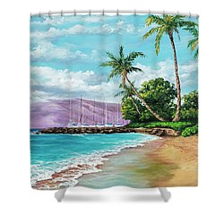 Shower Curtain featuring the painting Makila Beach by Darice Machel McGuire