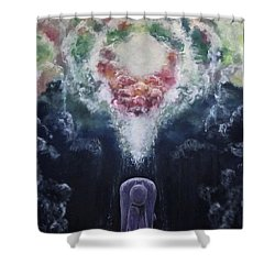 Shower Curtain featuring the painting Making Angels by Cheryl Pettigrew