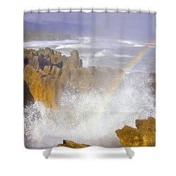 Making Miracles Shower Curtain by Mike  Dawson