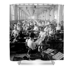 Making Money At The Bureau Of Printing And Engraving - Washington Dc - C 1916 Shower Curtain by International  Images