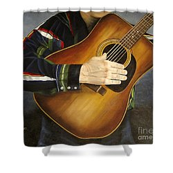 Making Music Shower Curtain by Mary Rogers