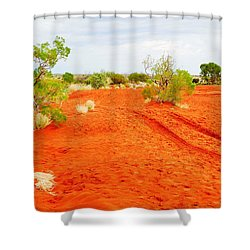 Making Tracks In The Dunes - Red Centre Australia Shower Curtain