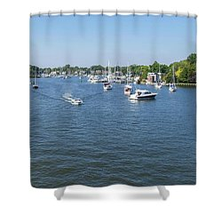 Shower Curtain featuring the photograph Making Way by Charles Kraus