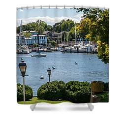 Shower Curtain featuring the photograph Making Way Up Creek by Charles Kraus