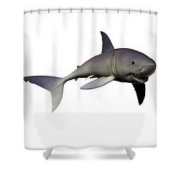 Mako Shark Shower Curtain by Corey Ford