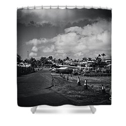 Shower Curtain featuring the photograph Mala Wharf Ala Moana Street Lahaina Maui Hawaii by Sharon Mau