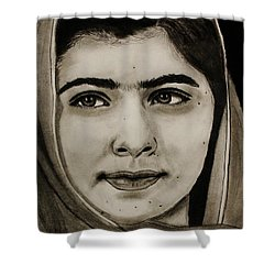 Malala Yousafzai- Teen Hero Shower Curtain