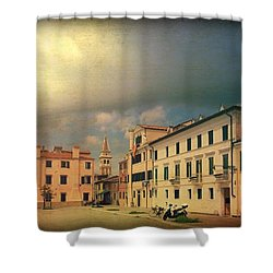 Shower Curtain featuring the photograph Malamacco Massive Cloud by Anne Kotan