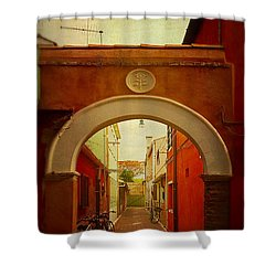 Malamocco Arch No1 Shower Curtain by Anne Kotan