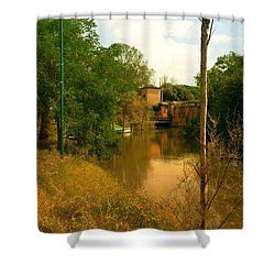 Shower Curtain featuring the photograph Malamocco Canal No2 by Anne Kotan